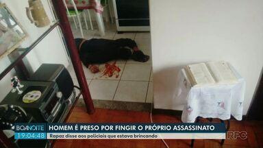 Homem simula a própria morte em Campo Mourão - Ele foi preso depois da brincadeira de mau gosto.
