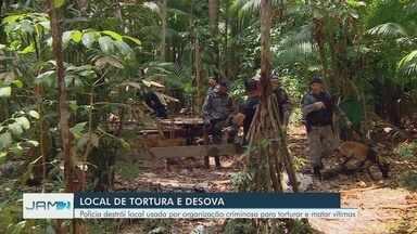Ossos humanos são encontrados em área de mata na Zona Centro-Sul de Manaus - Área seria usada como 'Tribunal do Crime' de facção criminosa no bairro da União. Polícia investiga se material é de jovem encontrada morta nas proximidades no início do mês.
