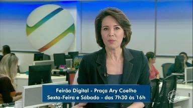 Feirão Digital acontece na praça Ary Coelho - População poderá tirar dúvidas sobre o desligamento digital nesta sexta-feira (26) e sábado (27).