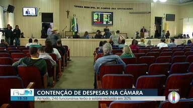 Câmara de Campos, RJ, vai reduzir salários de funcionários até o fim do ano - Vereadores aprovaram em regime de urgência um projeto de resolução que diminuiu em 30% os salários brutos dos cargos em comissão e função gratificada.