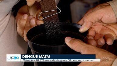 Prefeitura reforça combate contra dengue em Goiânia - Câmeras flagraram descarte irregular de pneus na capital.
