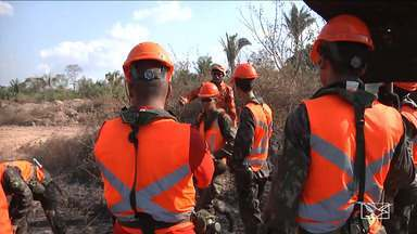 Corpo de Bombeiros inicia treinamento para brigada de incêndio em Codó - Trabalho intenso vai ser realizado na zona rural do município onde o acesso para combater queimadas é mais difícil.