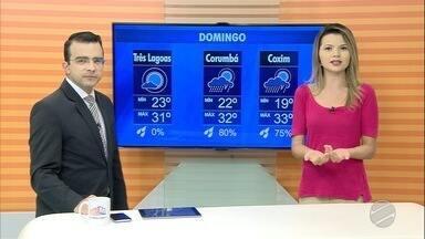 Confira a previsão do tempo para esta sexta-feira (26) e fim de semana em MS - Confira a previsão do tempo para esta sexta-feira (26) e fim de semana em MS