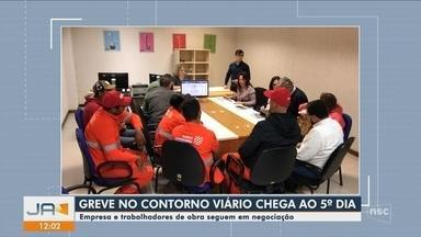 Trabalhadores do Contorno Viário da Grande Florianópolis seguem em greve - Trabalhadores do Contorno Viário da Grande Florianópolis seguem em greve