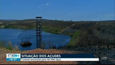 Situação dos reservatórios cearenses chama atenção, no Ceará - Saiba mais em g1.com.br/ce