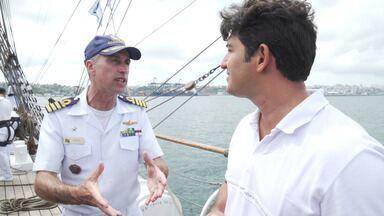 Alessandro Timbó visita o navio veleiro Cisne Branco, da Marinha do Brasil - Alessandro Timbó visita o navio veleiro Cisne Branco, da Marinha do Brasil