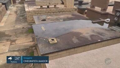 Moradores denunciam furto de peças de metais no Cemitério da Saudade, em Campinas - De acordo com a Prefeitura, há vigilância no local apenas durante o dia.