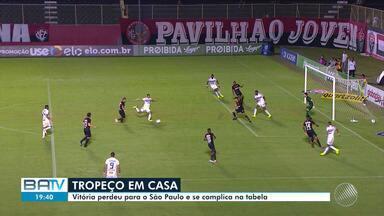Vitória perde para o São Paulo e aumenta o perigo da zona da degola - Veja as notícias do rubro-negro baiano.