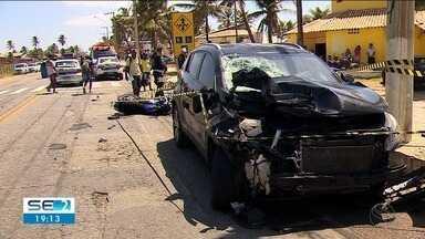 Duas pessoas morrem em acidente de trânsito em Aracaju - Uma delas chegou a receber atendimento médico, mas morreu no hospital.