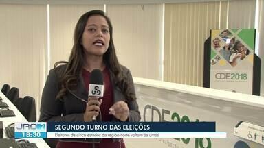 Mais 11 milhões de eleitores do Norte devem ir às urnas neste domingo, diz TSE - Repórter Gisele Loureiro traz mais informações sobre os dados.