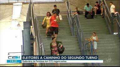Eleitores viajam a caminho do segundo turno - Saiba mais em g1.com.br/ce