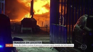 Leicester confirma a morte do dono do clube em acidente de helicóptero - A queda do helicóptero aconteceu no sábado (27), perto do estádio do clube inglês.