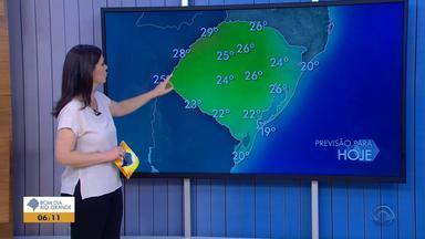 Tempo: sol predomina em todas as regiões do RS nesta segunda-feira (29) - Assista ao vídeo.