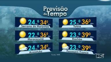 Veja as variações das temperaturas no Maranhão - Segundo a previsão do tempo a segunda-feira (29) será de sol com nuvens em São Luís
