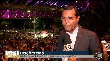 Teresinenses comemoram escolha de Jair Bolsonaro como presidente do Brasil - Teresinenses comemoram escolha de Jair Bolsonaro como presidente do Brasil