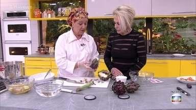 Aprenda a usar a alcachofra com toda a sua versatilidade - Tia Lina mostra diferentes tipos de alcachofra e como utlizá-las para os mais diferentes pratos
