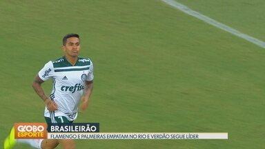 Gols do Brasileirão: Flamengo e Palmeiras empatam no Maracanã - Verdão sai na frente mas Flamengo deixa tudo igual. Líder Palmeiras mantém vantagem de 4 pontos para o rubro-negro.