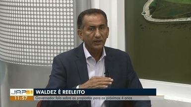 Reeleito, Waldez (PDT) fala sobre dificuldades do mandato atual e do planejamento até 2022 - Atual governador do estado foi o mais votado em 2º turno no domingo (28), no Amapá.