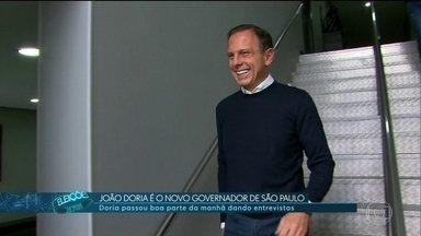 João Doria é eleito governador de São Paulo - Ele passou a manhã de segunda-feira dando entrevistas.