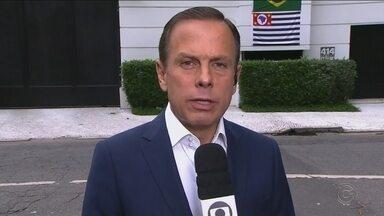 Confira como foi a agenda do novo governador de São Paulo, João Doria - Confira como foi a agenda do novo governador de São Paulo, João Doria (PSDB), na manhã desta segunda-feira (29).
