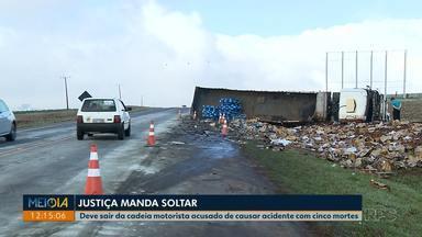 Justiça manda soltar motorista acusado de causar acidente com cinco mortes na PR-445 - O acidente foi em setembro.