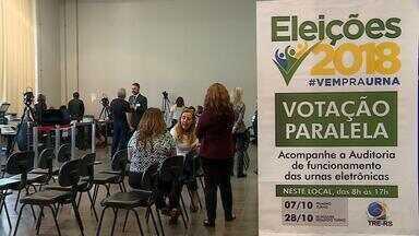 Votação paralela é realizada no intuito de comprovar a legitimidade das urnas eletrônicas - Assista ao vídeo.
