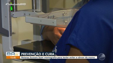 Baianas fazem exame de mamografia para prevenir câncer de mama em Salvador - A doença já matou cerca de 614 mulheres só no primeiro semestre deste ano na Bahia.