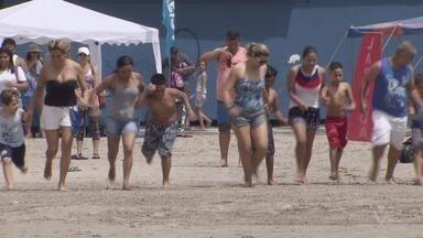 São Vicente recebe 2º Biatlo Inclusivo APAE - Corrida agitou a Praia do Itararé.