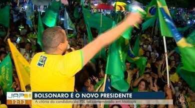 Eleitores de Jair Bolsonaro do PSL no AP foram pras ruas comemorar - Festa se concentrou na praça do Barão, no centro da capital, onde foi montada uma estrutura para os apoiadores