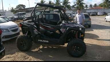 Câmera flagra roubo de quadriciclo em João Pessoa - Roubo foi a uma loja de veículos na BR-230, próximo ao Hospital de Trauma.
