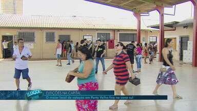 O dia de votação na capital - O maior local de votação em Porto Velho fica na zona sul.