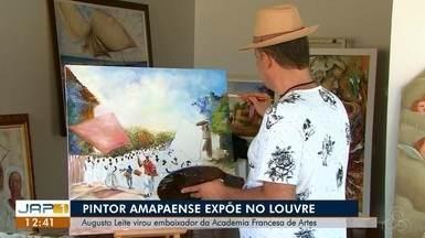 Pintor amapaense expões obras de artes plásticas no museu do Louvre, no AP - Augusto Leite virou embaixador da Academia Francesa de Artes