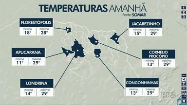 Tempo deve continuar firme nesta terça-feira (30) na região de Londrina - Mas tem previsão de mudança no tempo ainda nesta semana.