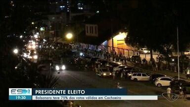 Moradores de Cachoeiro, ES, comemoram a vitória de Bolsonaro nas urnas - Jair Bolsonaro foi eleito presidente do Brasil neste domingo (28).