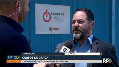 Paraná deve abrir 5 mil vagas temporárias - Liceu de Ofícios está com inscrições abertas para cursos gratuitos.