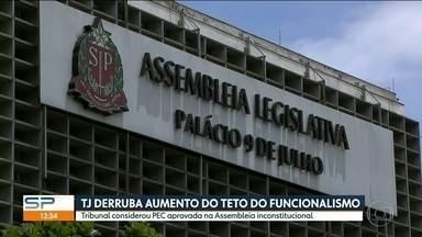 TJ derruba aumento do teto do funcionalismo - O Tribunal de Justiça considerou PEC aprovada na Assembleia Legislativa inconstitucional.