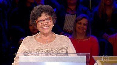 Maria Elisabeth participa do 'Quem Quer Ser Um Milionário' - A aposentada de Porto Alegre vai em busca do prêmio de 1 milhão de reais