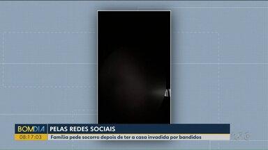 Vítima transmite pela rede social assalto a própria casa - O caso foi em Cascavel