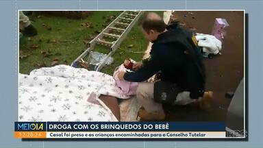 Polícia apreende droga em mala de bebê - Casal foi preso e crianças encaminhadas ao Conselho Tutelar