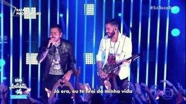 Rafa e Pipo Marques cantam 'Não Insista' - Filhos de Bell Marques se apresentam no ranking 'Rádio Artista Axé'