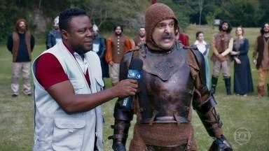 Entrevista de cavaleiro - Ao vivo da batalha.