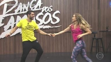 Confira como foram os ensaios de Mariana Ferrão com Ricardo Espeschit - Eles se prepararam pro zouk na repescagem