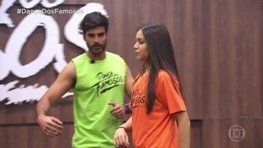 Confira ensaio do Anderson Tomazini com a Juliana Acácio - Eles se preparam pro zouk da repescagem