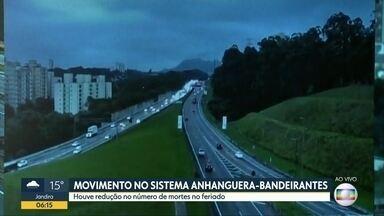 Número de mortes no sistema Anhanguera-Bandeirantes caiu na comparação com o ano passado - 635 mil veículos usaram as estradas que ligam a capital a cidades do interior.