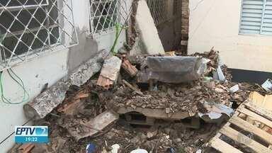 Temporal do final de semana deixa estragos e interdita cinco residências em Campinas - Segundo meteorologistas, a tempestade foi causada por uma frente fria que passou pela estado.