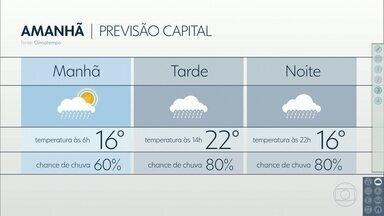 Quarta-feira deve ter chuva e frio - Frente fria vai passar pelo estado. Mínima da capital deve ser de 16 graus