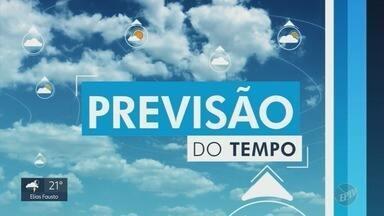 Confira a previsão do tempo para as cidades da região - Campinas (SP) tem probabilidade de chuva e máxima de 23ºC.