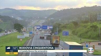 Rodovia Castello Branco faz 50 anos - Rodovia liga a capital ao centro oeste do Estado