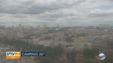 Confira a previsão do tempo nesta sexta-feira em Campinas e região - Temperatura máxima atinge os 26°C, em Campinas.