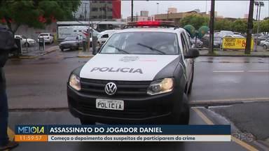 Dois suspeitos pela morte do jogador Daniel começam a ser ouvidos pela Polícia - Deivid Silva começou a prestar depoimento na manhã desta sexta-feira (09).
